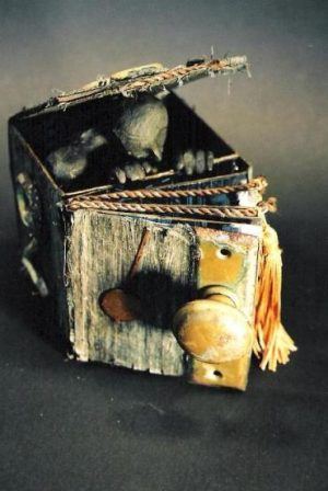Boogey Man (also called Childhood Nightmares) is a 3-D book and sculpture in one. It was purchased by a student from Russia and now has a home far away… just goes to show you that childhood fears and nightmares are international. (c) 2007
