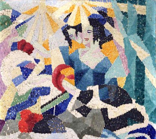 Gino_Severini,_1910-11,_La_Modiste_(The_Milliner),_oil_on_canvas,_64.8_x_48.3_cm,_Philadelphia_Museum_of_Art