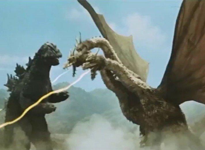 Godzilla-fights-Ghidorah