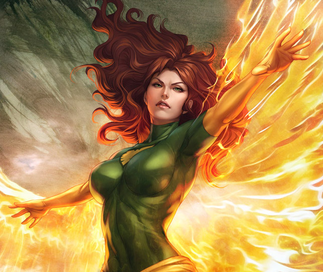 Jean Grey as Phoenix by Stanley Lau, www.artgerm.com
