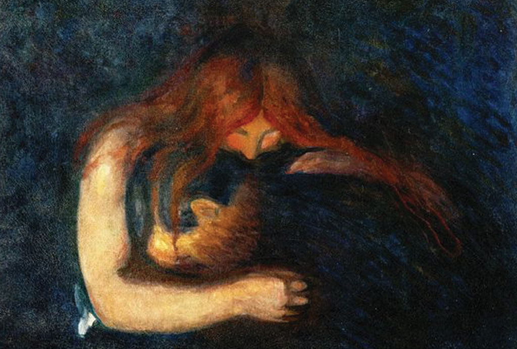 "Edvard Munch, ""Vampire (Love and Pain),"" 1893"