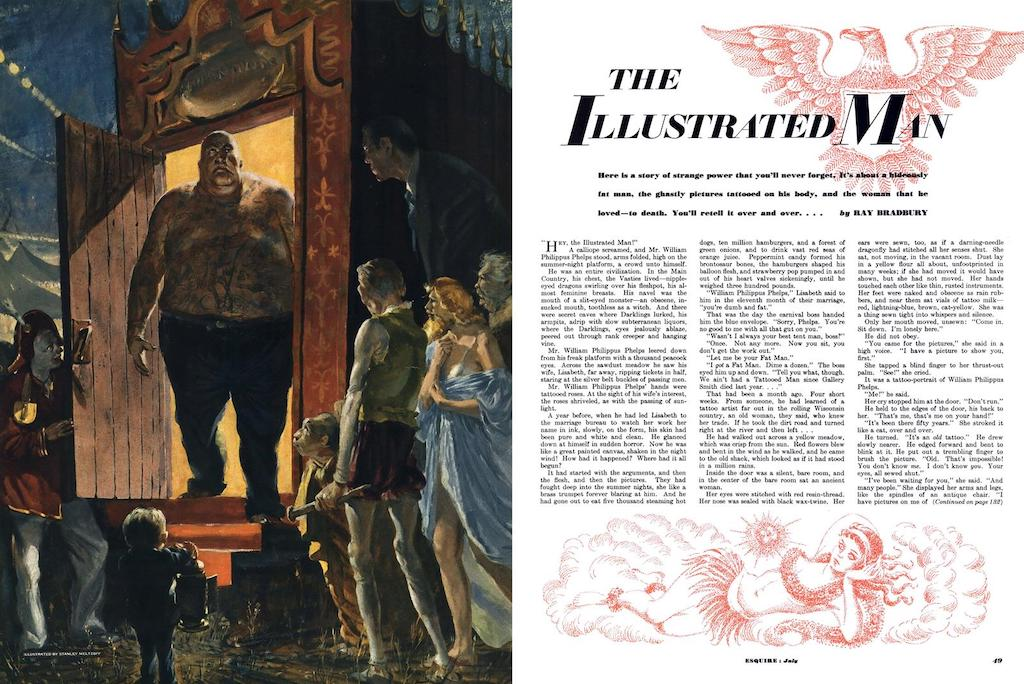 Excerpted from Esquire Magazine's original July 1950 spread for Bradbury's story.